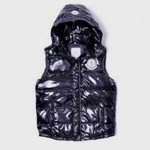 China Moncler Men Clairy Dowe Sleeveless Vest Black on sale