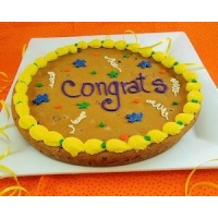 Giant Congrats Chocolate Chip Cookie Cake