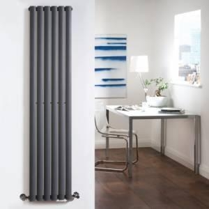 China BestBathrooms Luxury Anthracite Vertical Designer Radiator 1600mm x 354mm on sale