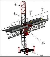 China 3P, 380V, 50Hz 8.3 m / min Single Mast Climbing Work Platform STC100 D on sale