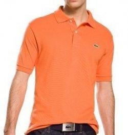 China Lacoste Polo Shirts - Mens Home Lacoste Man Polo Shirt - Orange on sale