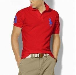 China Man Big Pony Polo Shirt - Red on sale
