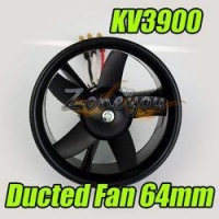 China 64MM Ducted Fan + KV3900 brushless motor RC aircraft on sale