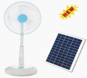 China Solar Rechargeable Fan on sale