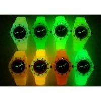Plastic Case Chinese / Japan Movt Transparent Glow Luminous Silicone Ice Watch