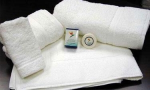 China White Egyptian Cotton Towels on sale