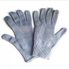 China Personalised Grey Cut Resistant Seamless Fabric Knitted Cotton Hand Gloves on sale