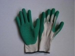 Abrasion Resistance Wrinkle Finished Latex Coated Gloves For Refuse Collection