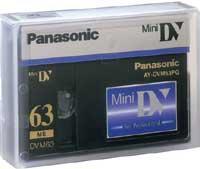China Panasonic Mini DV 63/42 Minute Professional Quality Mini-DV Digital Tape (AY-DVM63PQ) on sale