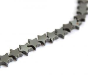 China Natural Hematite Star Beads 7mm 15 Strand on sale