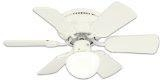 China Westinghouse 78108 Petite 6-Blade 30-Inch 3-Speed Hugger-Style Ceiling Fan with Light, White on sale