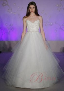China Cheap Bridal Wedding Dresses Ball Gown Beaded Spaghetti Straps Sweetheart Neck IN5800 on sale