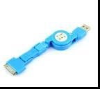 China 3 in1 USB Retractable Sync Charge Cable for Mini /Micro USB / iPhone 4 4S iPod on sale