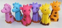 China Pencil Topper Giraffe Eraser Pencil Topper - IWAKO on sale