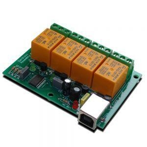China USB Four(4) Relay Output Module,Board for Home Automation on sale