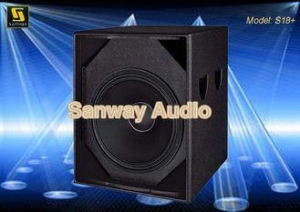 China Disco Sound Equipment 99dB SPL S18+ 8ohms Disco Sound Equipment Subwoofer Box for LF Reinforcement on sale