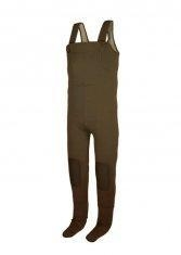 China Large Pocket 4MM Women Brown Neoprene Finshing Waders / Sock Foot Chest Wader with Fabric on sale