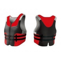 Waterproof EPE / PVC Foam Red Neoprene Life Jacket for Adult With YKK Zipper On Front