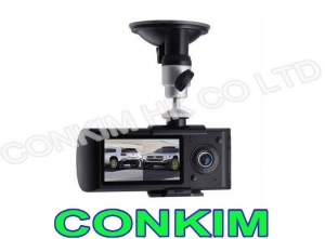 China Dual Channel Car Cameras With GPS G-Sensor CKM-DC3000G on sale