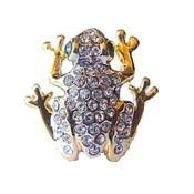China Resting Frog Pin Toad Brooch on sale
