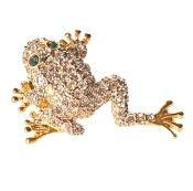 China Leaping Frog Pin Toad Brooch on sale