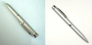 China customized Super bright White LED Logo projector pen light with Metal Barrel on sale