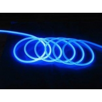 Clear Water Resistant Plastic Side-light Fiber Optic Cable for LED Lighting Fixtures 14mm
