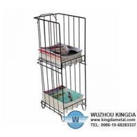 China Metal wire magazine rack on sale
