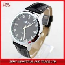 China R0312 genuine leather watches,wristwatch with leather band unisex women man watch on sale