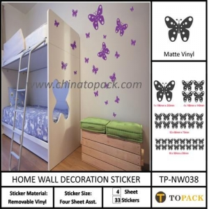 China Sticker Series Product Name:Butterfly Room Decal Wall Sticker TP-SW038 on sale