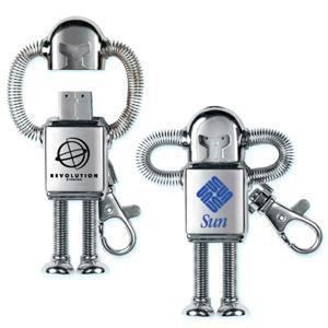 China Robot Shaped Promotional Custom Logo USB Drives on sale