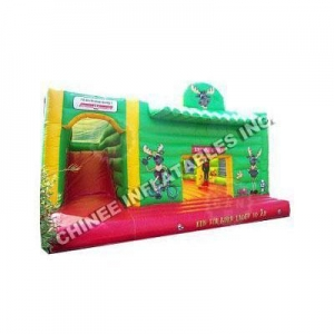 China Bounce House Slides Funny Deer And Red Slide Combo T2-1987 on sale