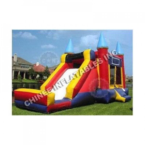 China Bounce House Slides Bouncer Single-lane Slide Combo T2-1475 on sale