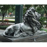 China Bronze Lion Statue on sale