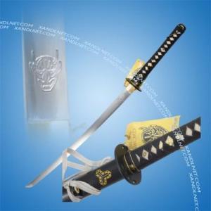 China Japanese Sword Handmade 1060 Steel Hanzo Kill Bill Devil Samurai Sword Katana on sale
