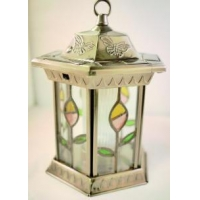 China Stained Glass Octagon Solar Lantern on sale