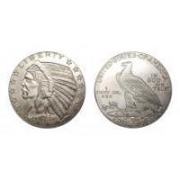 2.5 Dollar Indian Head- 1 Ounce Silver Bullion Round
