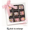 China Mother's Day Chocolate Dipped Krispies Gift Box of 9 for sale