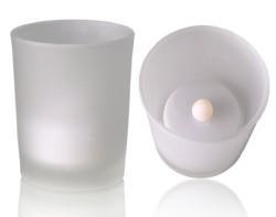 China Bargains Nice LED candle with real wind glass incl. batteries on sale