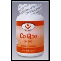 Enzymes 60 mg of pure natural Coenzyme Q-10 with Lecithin