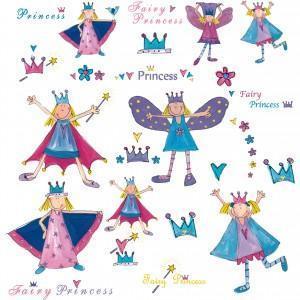 China Fairy Princess Wall Stickers on sale