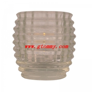 China Crystal Glass Candle Holder on sale