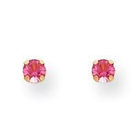 China 14K Gold October Birthstone Crystal Earrings on sale