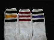 China 3 Striped Knee High Tube Socks Womens 3 Stripe Knee Highs 3 Pair on sale