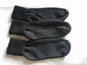 China Ankle Socks Womens Black Terry Cuff Ankle Socks 6 Pair on sale