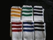 China Boys Socks Youth Boys 3 Stripe 15 inch Tube Socks on sale