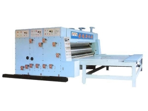 Quality ENGLISH SMY-480 series semi-automatic flexo printing slotting machine (high matching) for sale