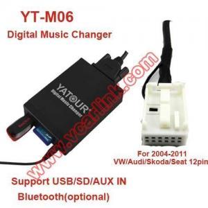 China Digital Music Changer YT-M06 YT-M06V Car MP3 for VW/Audi/Skoda/Seat 12pin(VW12 and VW12D) on sale