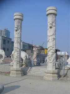 China Stone dragon columns, Chinese Stone dragon pillars JX-011 on sale
