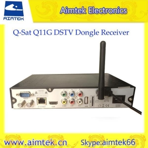 China Q-SAT Q11G Africa GPRS Decoder with sim card slot for Africa on sale